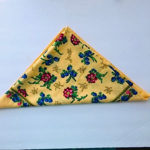 Vintage Japan Virgin Wool Hand Painted Scarf